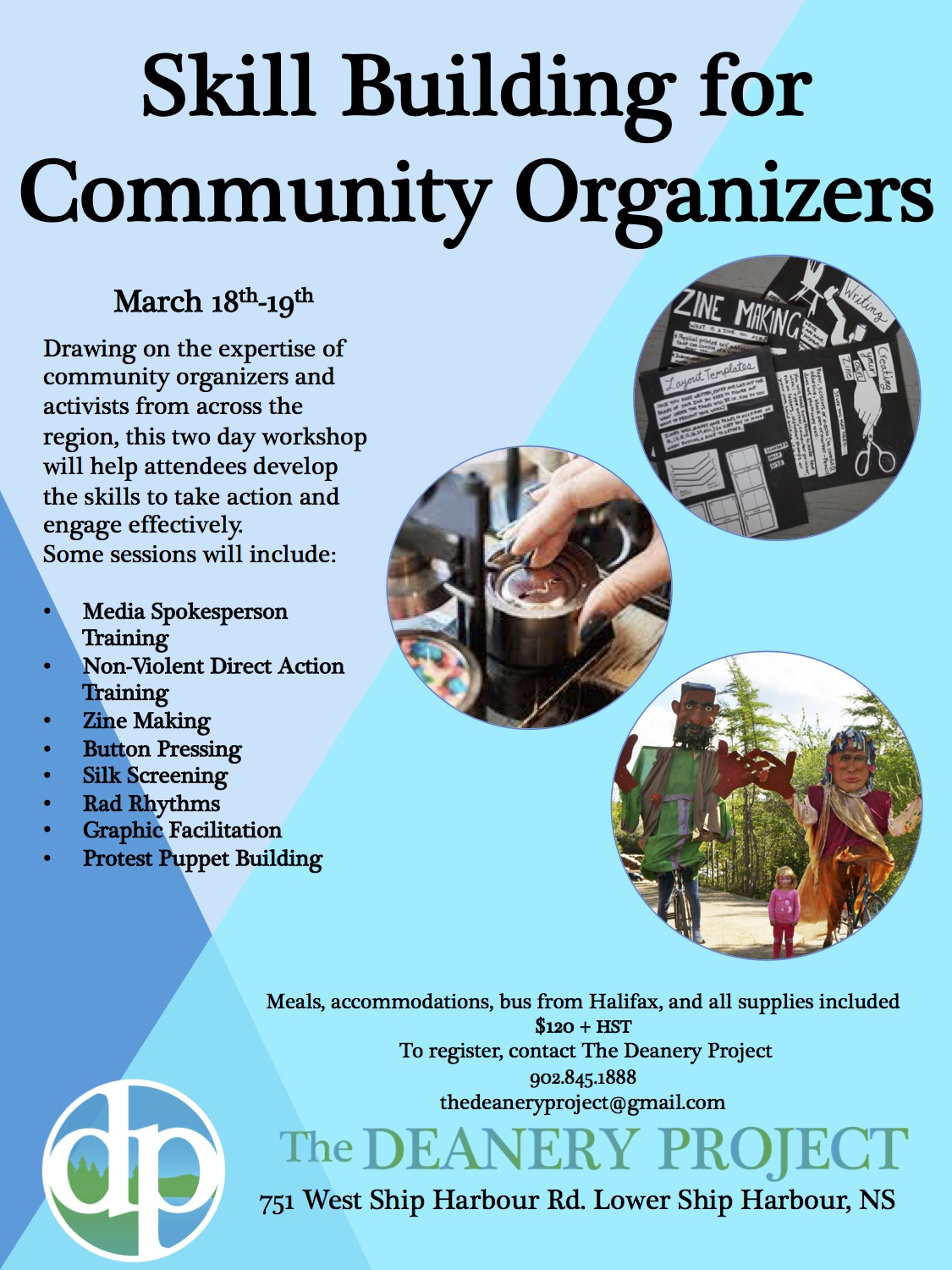 Skill Building for Community Organizers: Weekend Training- The
