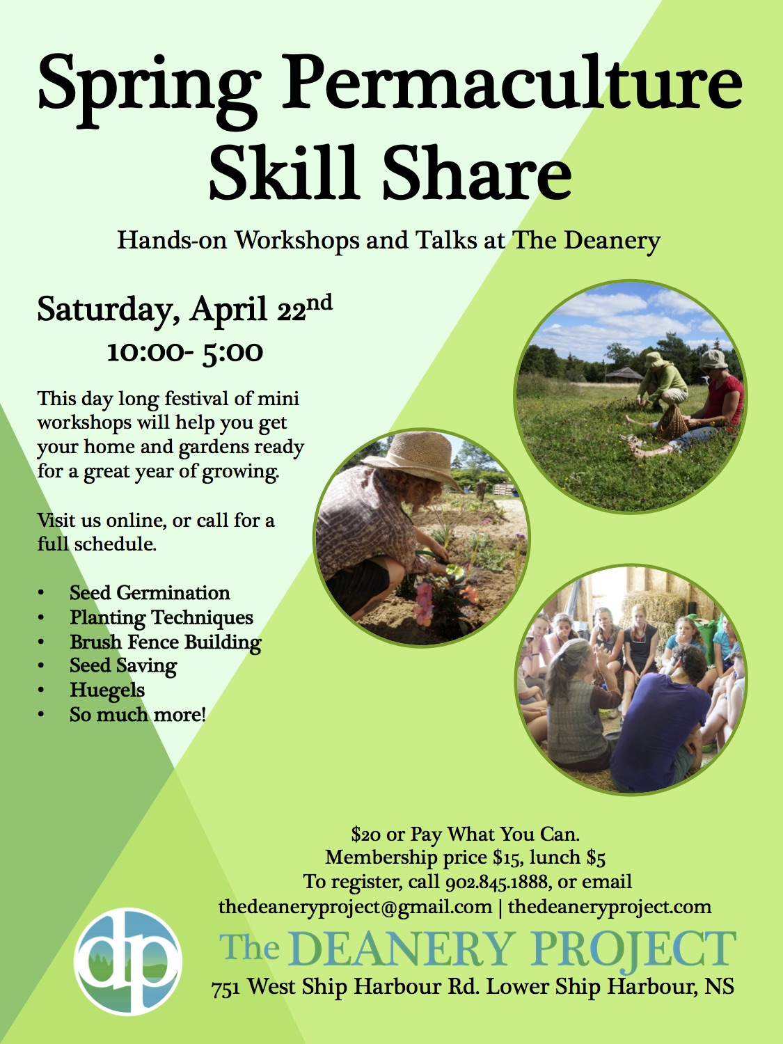 Spring Permaculture Skill Share- The Deanery Project